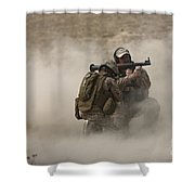 A U.s. Contractor Fires Shower Curtain
