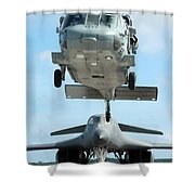A U.s. Navy Mh-60s Seahawk Helicopter Shower Curtain