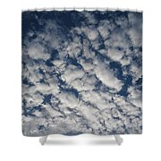 A View Of A Cloud-filled Sky Over Miami Shower Curtain