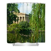A View Of The Parthenon 17 Shower Curtain