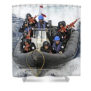 A Visit, Board, Search And Seizure Team Shower Curtain