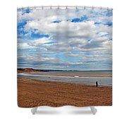 A Walk On The Beach Shower Curtain