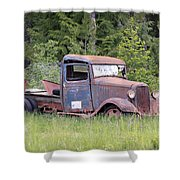 Abandoned Truck Shower Curtain