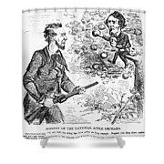 Abraham Lincoln Cartoon Shower Curtain