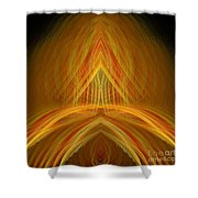 Abstract 105 Shower Curtain