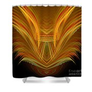 Abstract 107 Shower Curtain