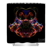 Abstract 163 Shower Curtain