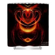 Abstract 166 Shower Curtain