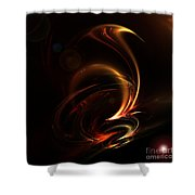 Abstract 167 Shower Curtain