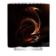 Abstract 168 Shower Curtain