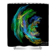 Abstract 205 Shower Curtain