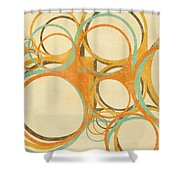 Abstract Circle Shower Curtain