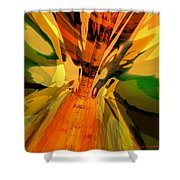 Abstract Dragon Fx  Shower Curtain