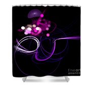 Abstract Eighteen Shower Curtain
