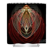 Abstract Eighty Shower Curtain