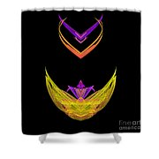 Abstract Fifty-five Shower Curtain