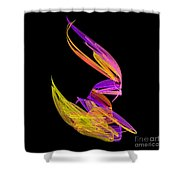 Abstract Fifty-four Shower Curtain