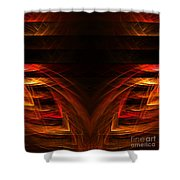 Abstract Forty-eight Shower Curtain