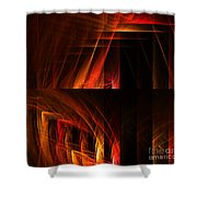 Abstract Forty-seven Shower Curtain