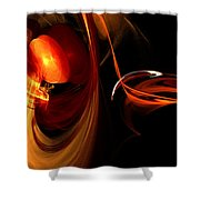 Abstract Four Shower Curtain