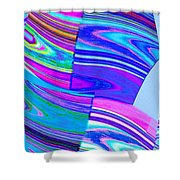 Abstract Fusion 44 Shower Curtain