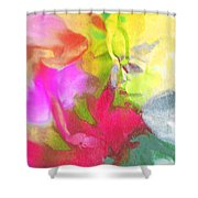 Abstract Garden Impressions Shower Curtain