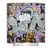 Abstract Graffiti  Shower Curtain
