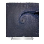 Abstract Ice Shower Curtain
