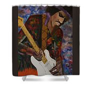 Abstract Jimi Hendrix Shower Curtain
