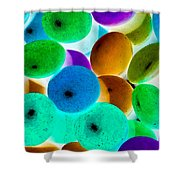 Abstract Negative Art Shower Curtain