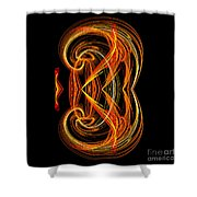 Abstract Ninety-one Shower Curtain