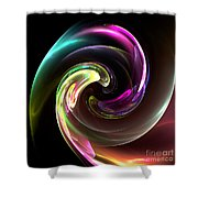 Abstract Seventy-three Shower Curtain