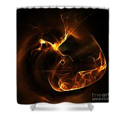 Abstract Sixty-nine Shower Curtain