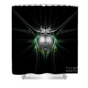 Abstract Twenty-eight Shower Curtain