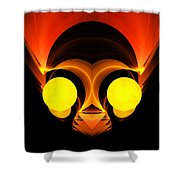 Abstract Twenty-six Shower Curtain