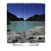 Acidic Crater Lake On Kawah Ijen Shower Curtain