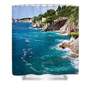 Adriatic Sea Coastline Shower Curtain
