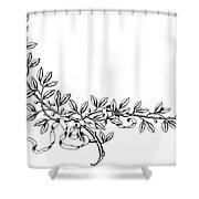Advertising Art: Wreath Shower Curtain