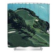 Aerial Of A Golf Course In Bermuda Shower Curtain