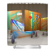 Aftermath II Shower Curtain