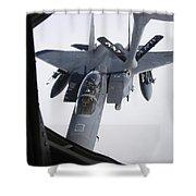 Air Refueling A F-15e Strike Eagle Shower Curtain