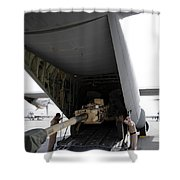 Aircrew Load An M777 A2 Howitzer Onto Shower Curtain