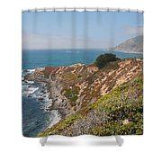 Along Big Sur Shower Curtain