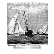 Americas Cup, 1887 Shower Curtain