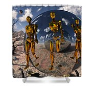An Advanced Civilization Uses Time Shower Curtain
