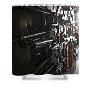 An Armory Of Pk Machine Guns Designed Shower Curtain
