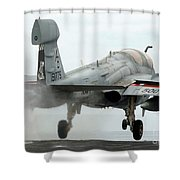 An Ea-6b Prowler Launches Shower Curtain
