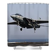 An F-14d Tomcat Comes In For An Shower Curtain