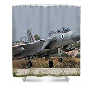 An F-15d Eagle Baz Aircraft Shower Curtain