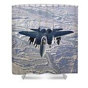 An F-15e Strike Eagle Soars Shower Curtain